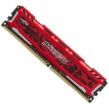 Память 8GB DDR4 2666 MHz Crucial Ballistix Sport LT Red PC4-21300 16-18-18 Unbuffered NON-ECC 1.2V 1
