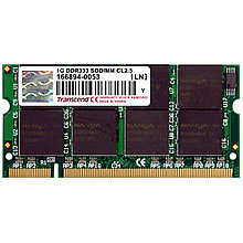 Память для ноутбука SO-DIMM 1 GB DDR333, TRANSCEND TS128MSD64V3A, for notebook,