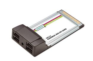 ExpressCard/54 mm Digitus DS-32220 4*USB port