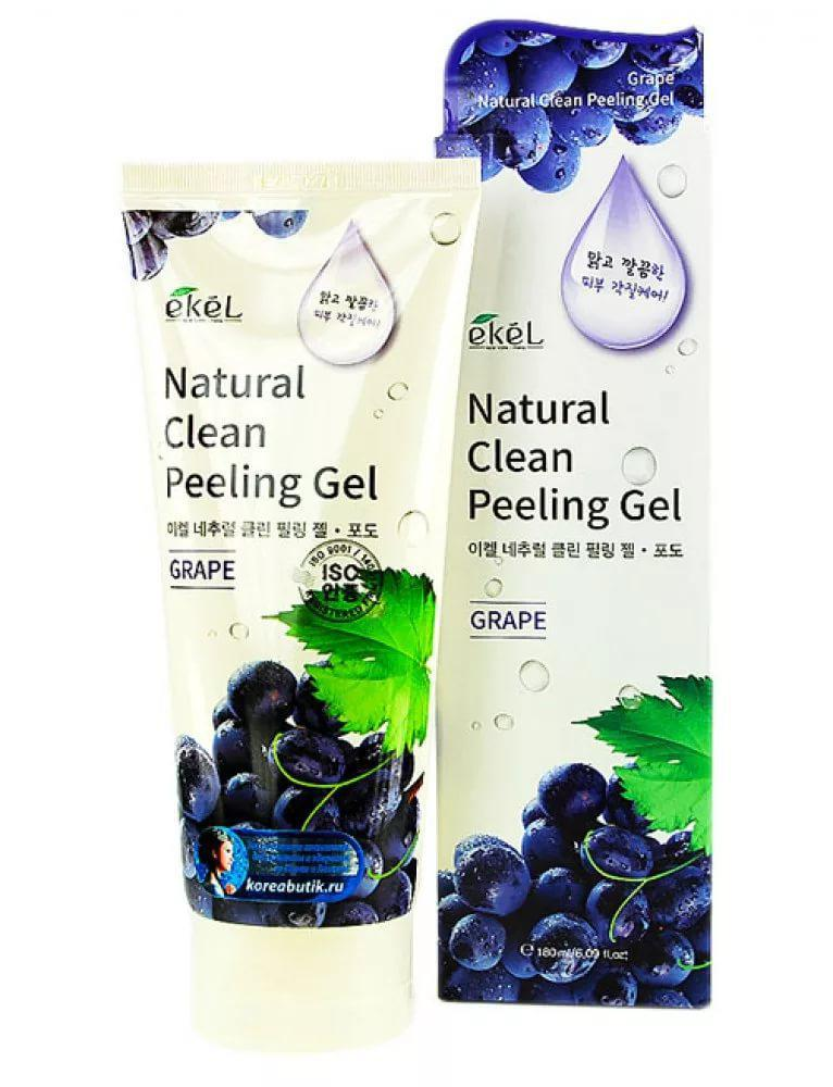 Ekel Grape Natural Clean Peeling Gel - Пилинг-скатка с экстрактом винограда