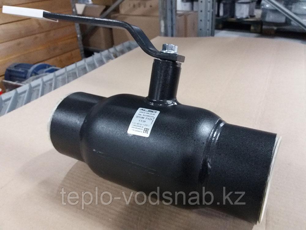 Кран шаровый приварной DN15 ALSO (Россия)