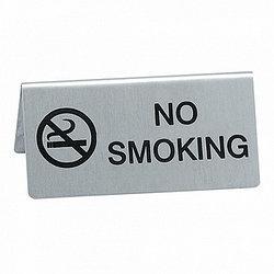 "Табличка настольная нерж.""NO SMOKING"" 12х5см  P.L. арт.95001085"