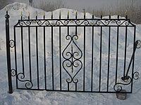 Забор кованный