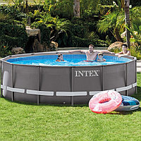 Каркасный бассейн 427x107 cм Ultra Frame Pool, Intex 28310