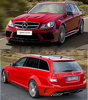 Обвес на C-class Wagon W204 AMG C63 black series body kit for Sedan 4 door model fit for BENZ C-CLASS 2012-