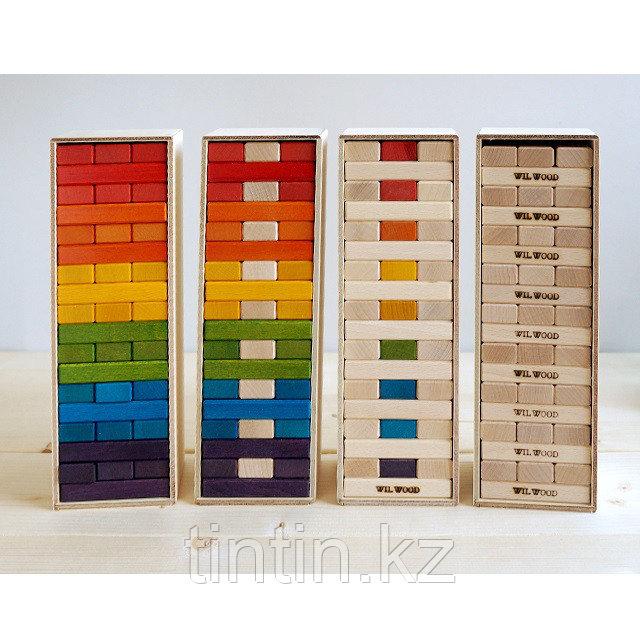 Настольная игра Дженга в деревянной коробке