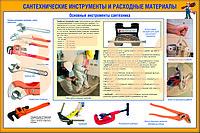 Плакаты Сантехнические инструменты и меры безопасности, фото 1