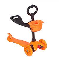 Самокат трехколесный TooCool Mars Kids 3 в 1 оранжевый