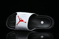 Шлепанцы мужские Nike Air Jordan Hydro 6 White Black Gym Red, фото 1
