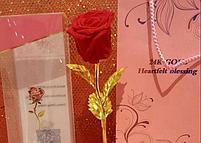 Вечная живая Роза на золотом стебле, фото 4