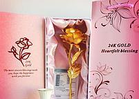 "Золотая роза ""Heartfelt Blessing"" (24k), фото 4"