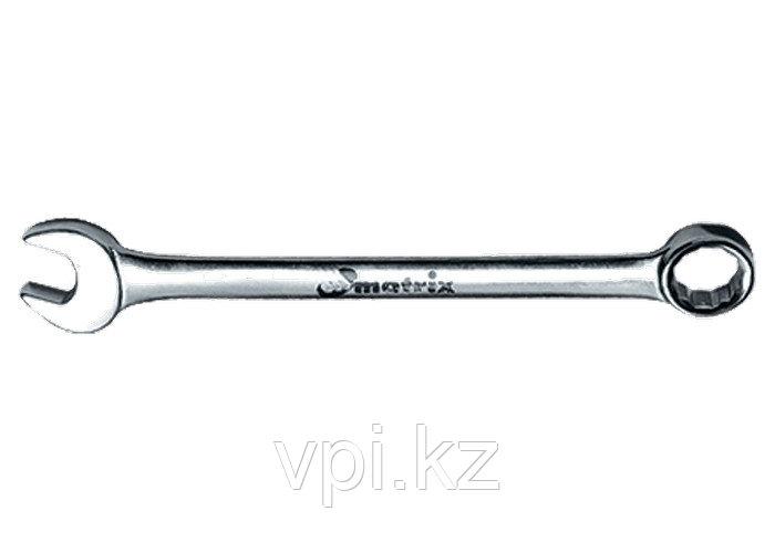 Рожково-накидной ключ с трещеткой 15мм Matrix