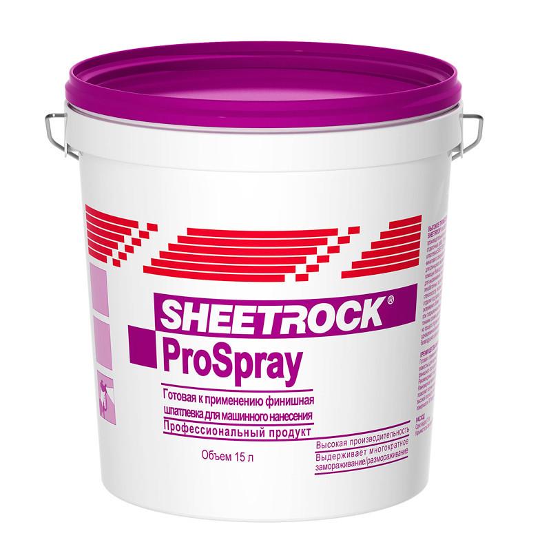 Финишная гот. шпатлевка SHEETROCK ProSpray для нанесение распылителем 15 л