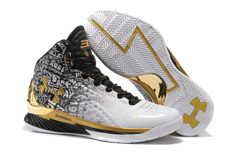 separation shoes ce093 5cd6b Баскетбольные кроссовки Under Armour Curry One MVP Black White Gold -  INTERSHOP. Товары