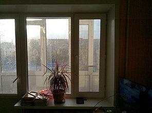 Установка витража, металлопластикогового окна и балконной пары по адресу Ш. Айманова 25/1 6