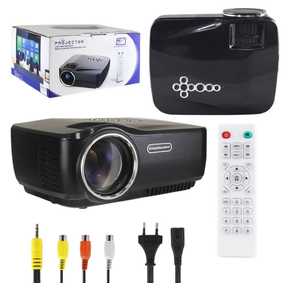 Проектор GP 70UP 1080P +3D WI-FI Bluetooth Android