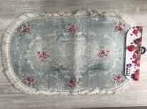 Коврик для ванны овальный 60*100 с бахромой