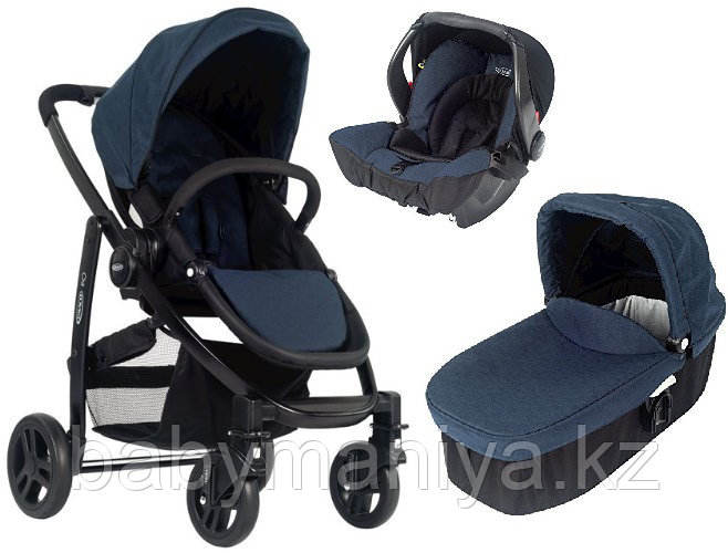 Коляска 3 в 1 Graco EVO Trio Navy Sand