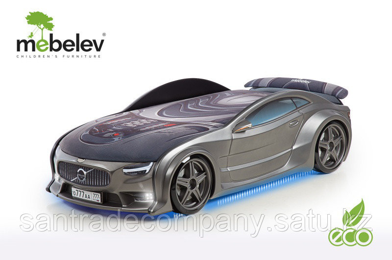 3D NEO  кровать машина  VOLVO графит