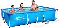 Прямоугольный каркасный бассейн 56424 Bestway Steel Pro Family Splash