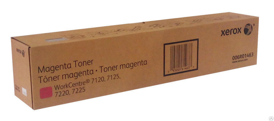 Тонер-картридж Пурпурный (Magenta) для Xerox WorkCenter7220/7225/7120/7125 (006R01463) Оригинал, фото 2