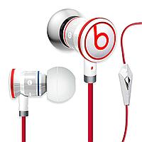 Наушники Monster Beats by dr.dre ibeats Control Talk ( бело - красные )