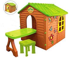 Игровой домик со столом +стул 11045