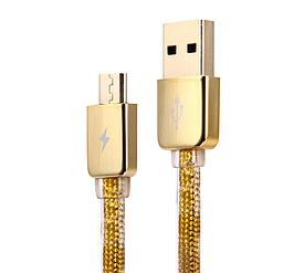 Кабель MicroUSB Remax Gold Safe and Speed 1000mm
