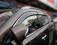 ветровики/Дефлекторы окон c хромом на Chevrolet Cruze /Шевроле Круз хэтчбек