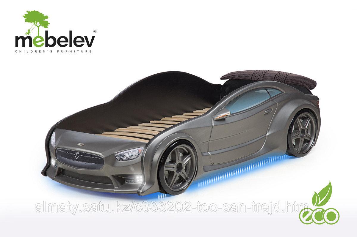 3D кровать-машина Тесла для детей до 12 лет EVO графит