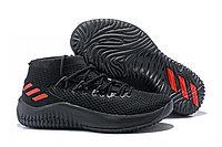 Кроссовки баскетбольные Adidas Dame 4 Low Black Red, фото 1