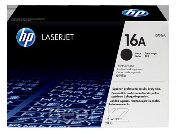 Картридж лазерный HP Q7516A, Черный, На 12000 страниц для HP LJ 5200