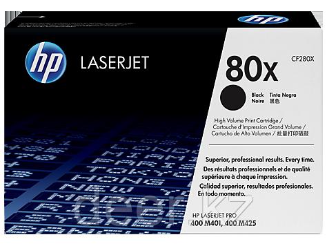 Картридж лазерный HP CF280X 80X для Pro 400 M401/Pro 400 MFP M425, 6800 стр, черный
