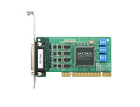 MOXA CP-114EL-DB9M 4-port RS-232/422/485 low profile PCI Express x1 (includes DB9 male cable)