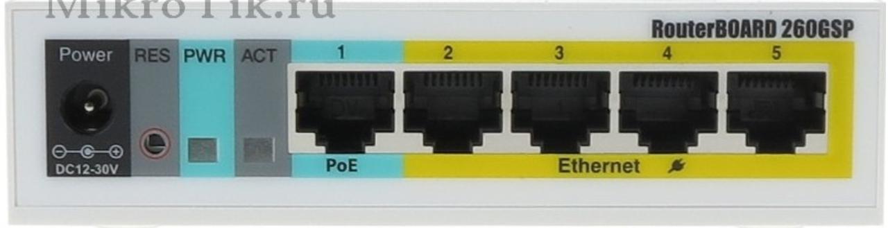 MikroTik RouterBOARD 260GSP
