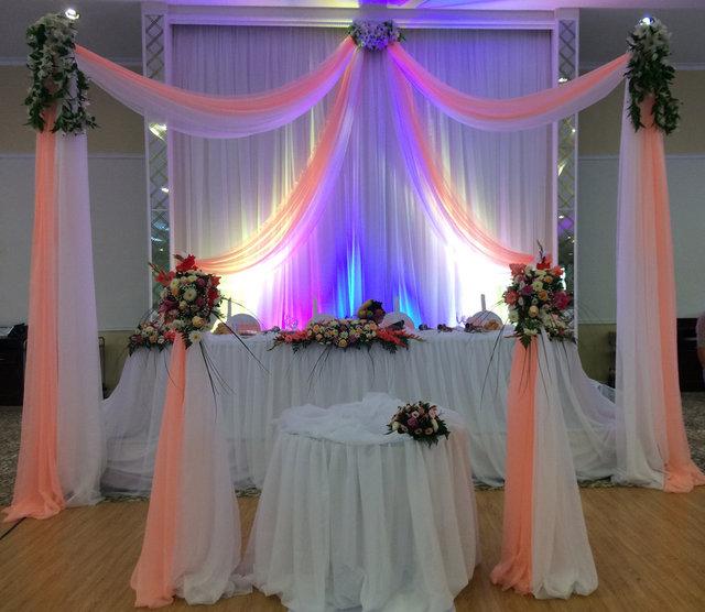 Оформление свадьбы в персиковом цвете в зале Princess Hall 8