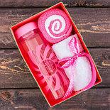 """Набор """"Sweet life"""", бутылка для воды (500 мл), полотенце (30 х 30 см) , фото 2"""