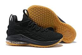 "Баскетбольные кроссовки Nike LeBron XV (15) Low ""Black/Gym"" (40-46)"
