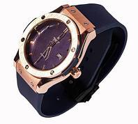 Часы наручные мужские реплика Hublot Geneve Big Bang (Бронза, черный ремешок)