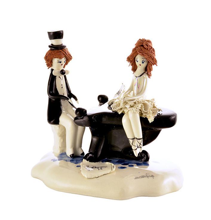 Статуэтка Пианист и балерина. Италия, ручная работа