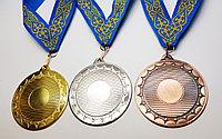 Медаль металлическая серебро с лентой
