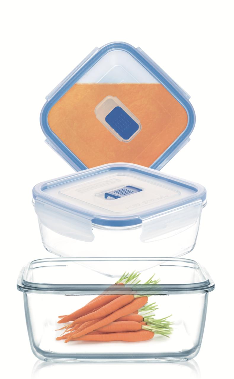 Набор квадратных контейнеров Luminarc Pure Box Active 3 шт