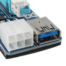 Riser / Райзер PCIE 1x - 16x, 6 PIN, версия 006c , фото 3