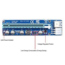 Riser / Райзер PCIE 1x - 16x, 6 PIN, версия 006c , фото 2