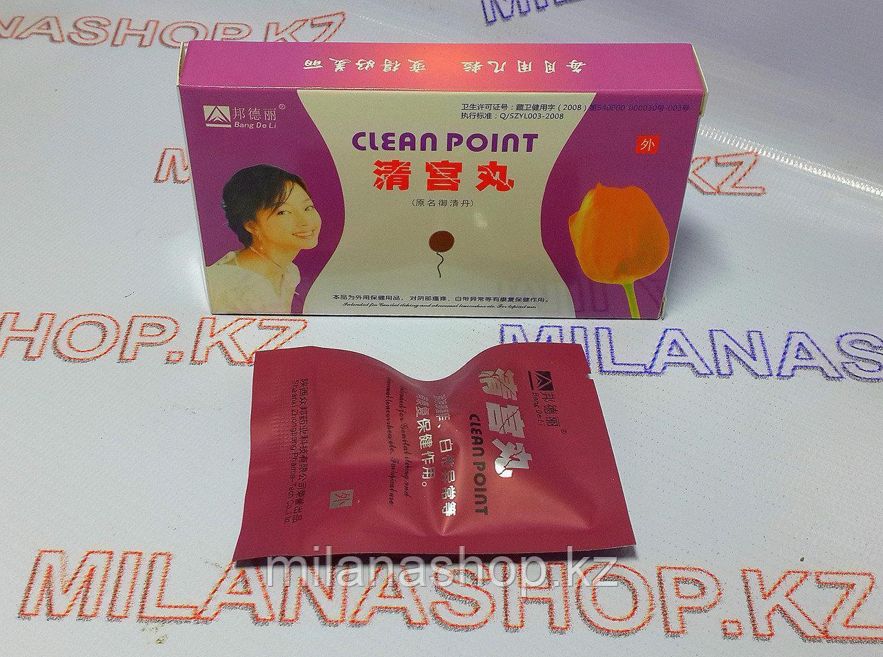 Тампоны Clean Point (Тюльпан),(для очистки и лечения матки) 1 шт