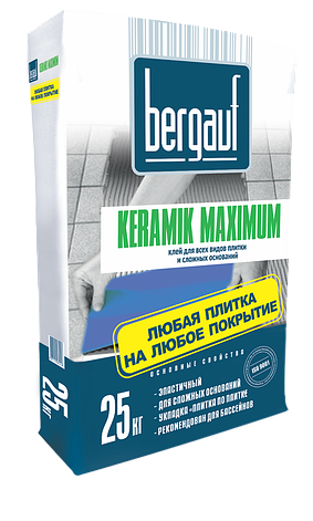 Bergauf клей Keramik Maximum Plus 25кг (302), фото 2
