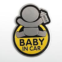 """Наклейка декоративная на автомобиль """"Baby in car"""", желтый, фото 1"""