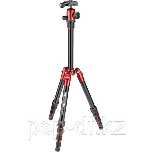 Manfrotto Element Small Aluminum Traveler Tripod (Red)