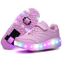 Роликовые кроссовки Aimoge LED Light Pink, фото 1