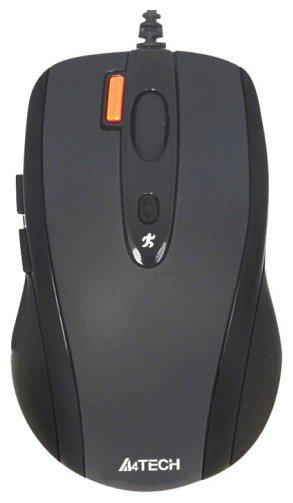 Мышь A4tech N-70FX V-Track padless Optical Mouse, any surface, USB, 800-1600dpi
